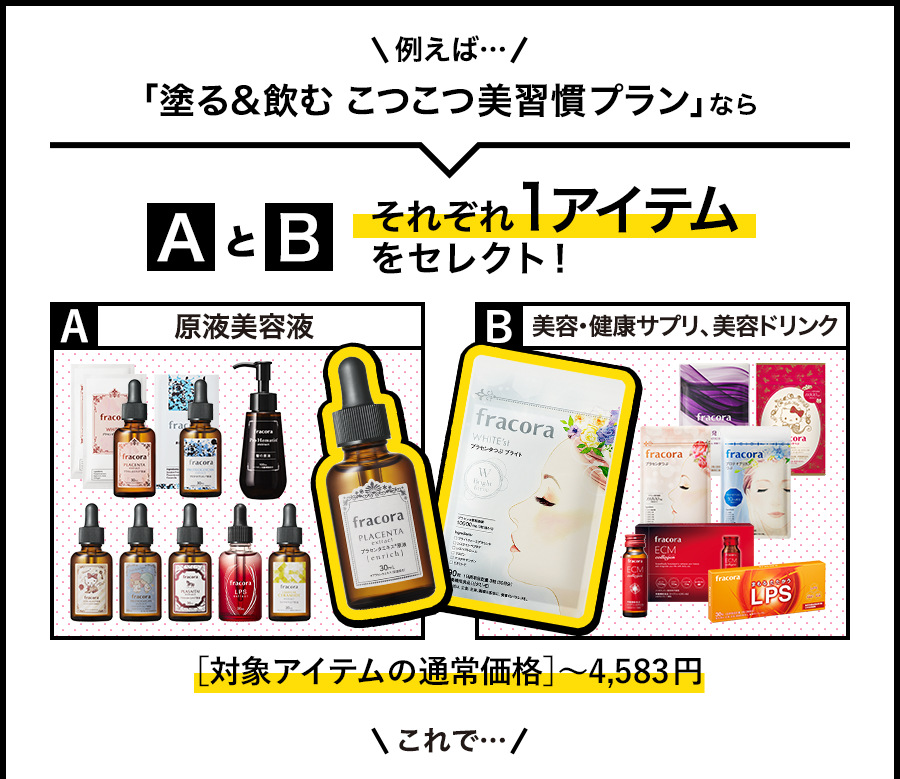 「対象商品アイテムの通常価格」〜4,583円