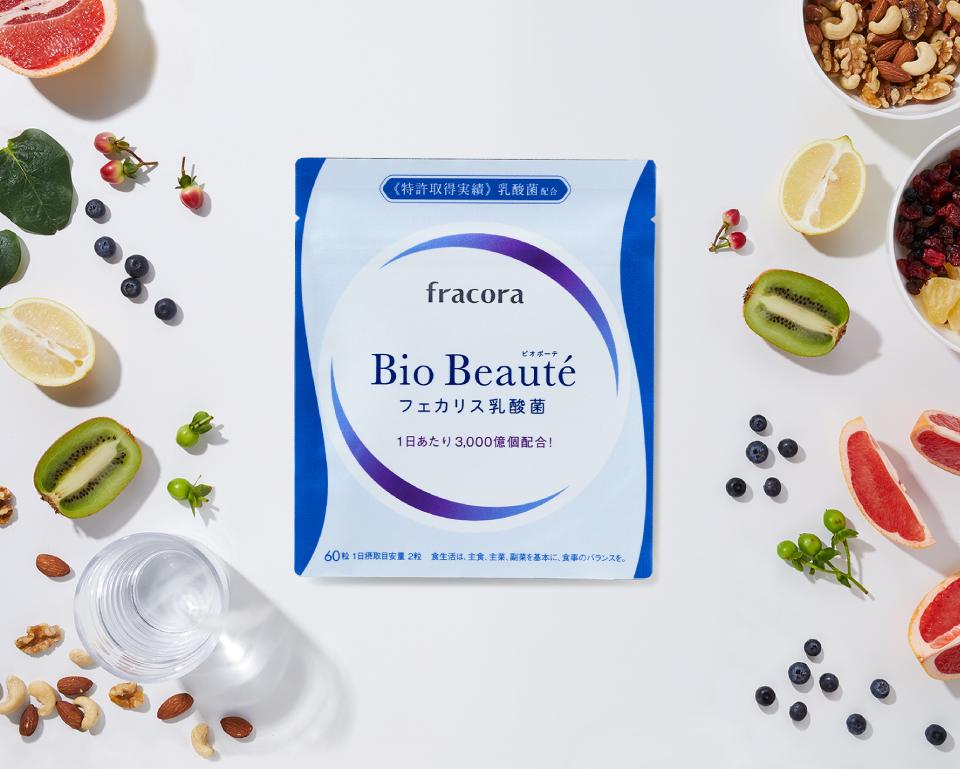 明日のキレイは、毎日の腸活から!特許実績のあるフェカリス乳酸菌採用 Bio Beautéビオボーテ